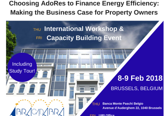International Workshop on AdoRES Business case for Property Owners – 8-9 Feb 2018